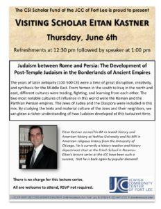 Lecture Series Kastner June 2019
