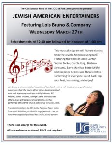 Lois Bruno musical lecture 2019