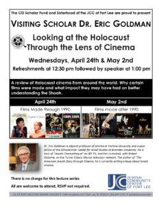 SIR Goldman Lecture Series April May 2019