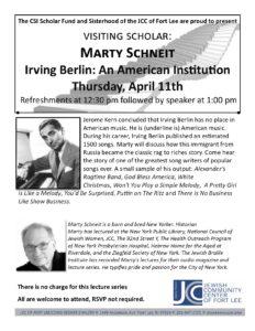 SIR Lecture Series Schneit April 11th