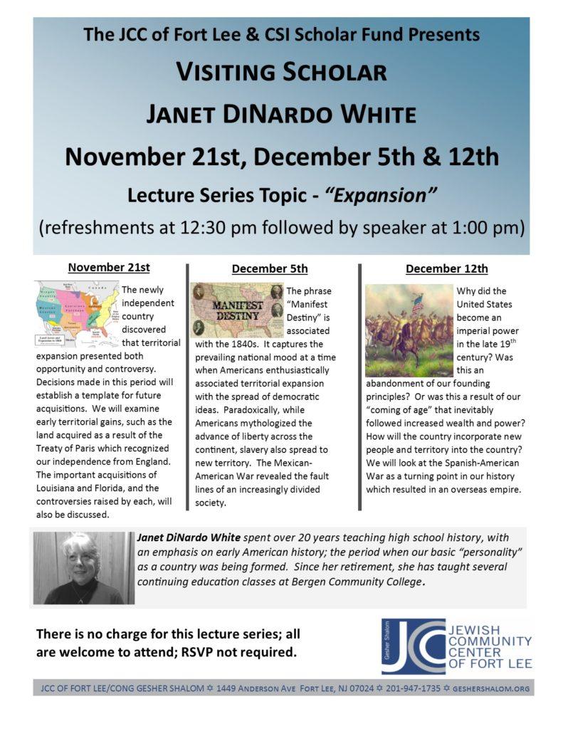 SIR lecture series Dinardo Nov-Dec 19