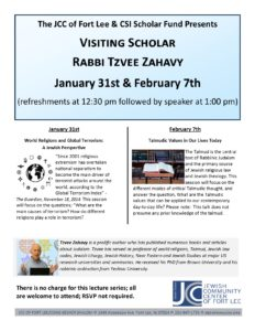 SIR lecture series Zahavy Jan 31wst and Feb 7